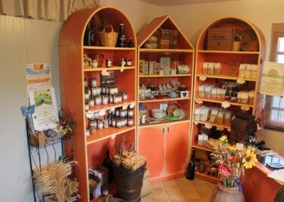 Gårdsbutikk hos Agricola Bittarelli i Umbria