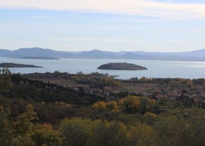 Trasimeno-innsjøen i Umbria