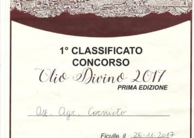Agroturismo Cornieto - Premie - Olio di Vino 2017