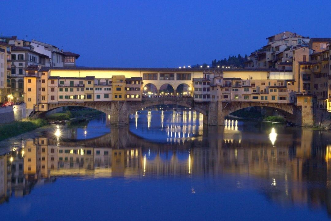Ponte Vecchio i Firenze, Toscana