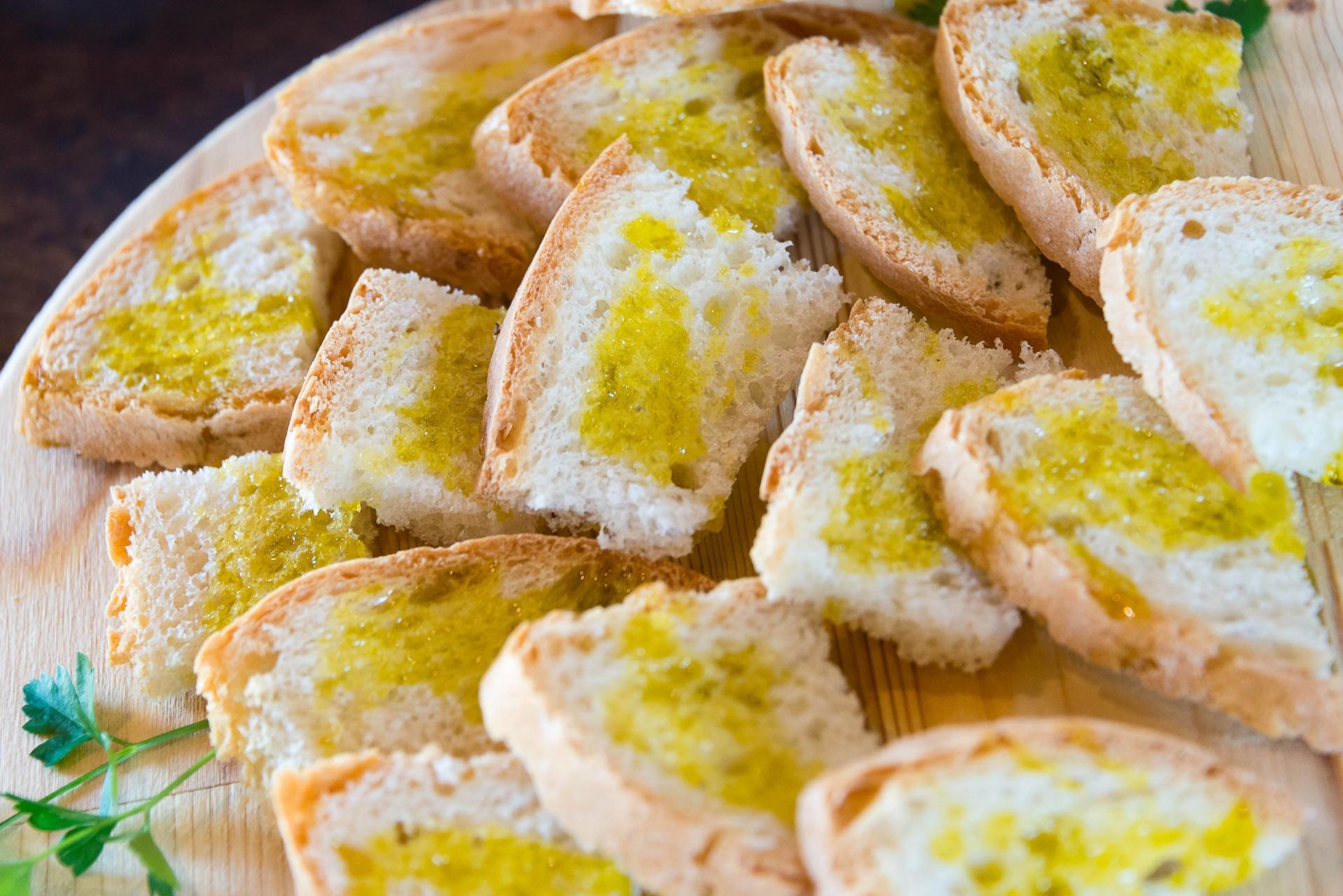 Olivenolje på brød - pane e olio - Foto: Luca Barelli