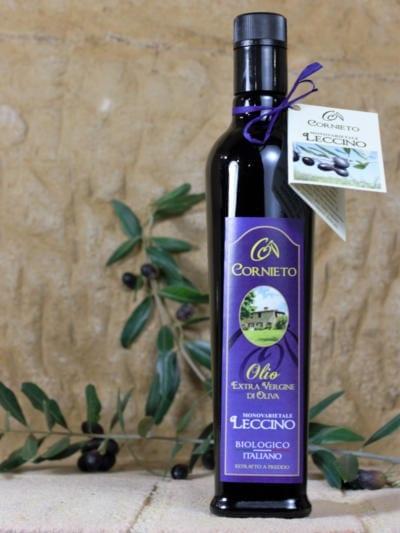 Økologisk ekstra jomfru olivenolje Leccino - Cornieto
