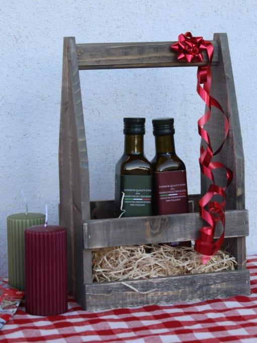 Matgave med kaldpresset ekstra virgin olivenolje Umbro 250 ml i matkasse