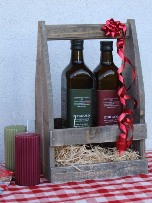 Matgave med kaldpresset ekstra virgin olivenolje Umbro 750 ml i matkasse