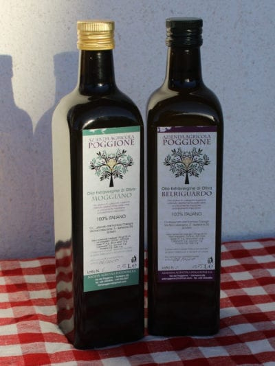 Matgave med økologisk ekstra virgin olivenolje Poggione 750 ml